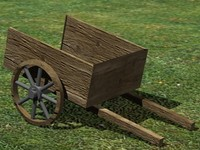 old peasant wagon 3d model