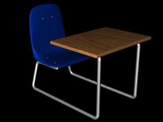 student desk c4d