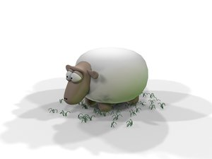 farm sheep 3d model