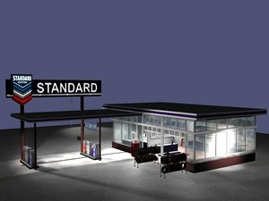 standard gas station 3d 3ds