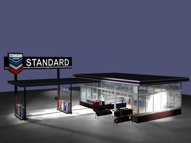 standard gas station 3d 3ds