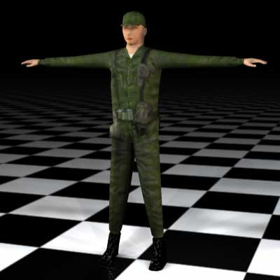 3ds max human male guy