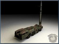 soviet maz-scud 3d model