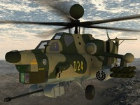 Mi-28N Russian Gunship Game ready model