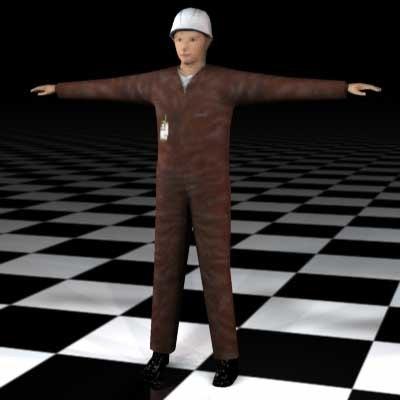 3d human male guy