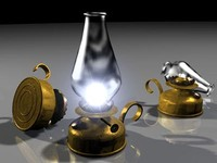 3d model oil lamp drs