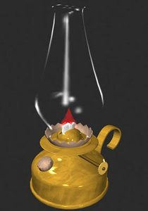 3d oil lamp drs model