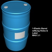 3d max plastic barrel