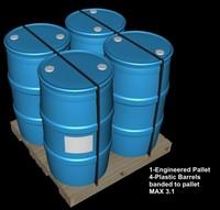 3d banded pallet barrels