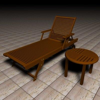 3dsmax deckchair