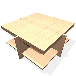 3d model lewis table