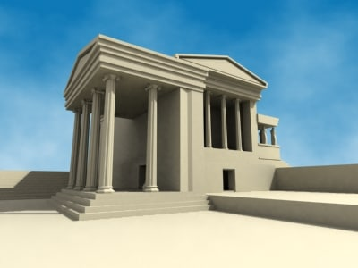 3d model erectheion temple
