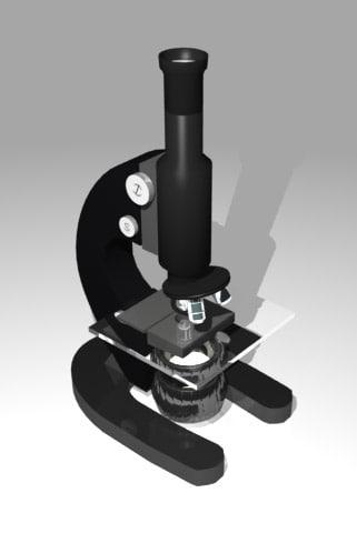 3d lwo school microscope