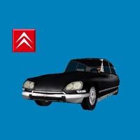 citroen ds 21 car classic 3d model