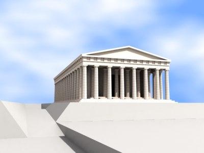 parthenon acropolis 3d model