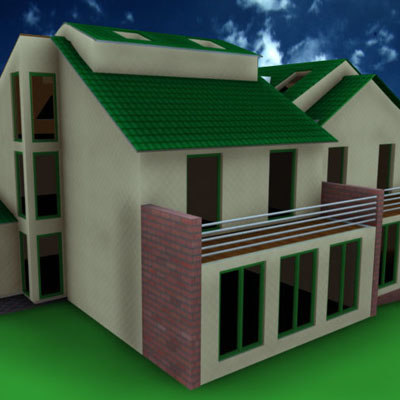 3d model familyhome home