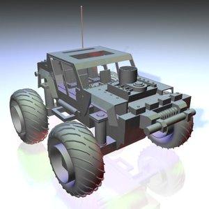 3d jeep tank polys