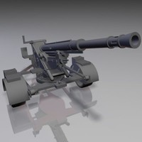 military mortar tngs gun 3d model