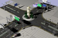 junction road 3d max