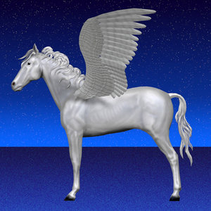 pegasus wings 3d model
