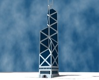 bank china tower building 3d model