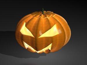 pumpkin jackolantern 3d max
