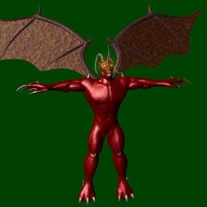 lightwave demon character