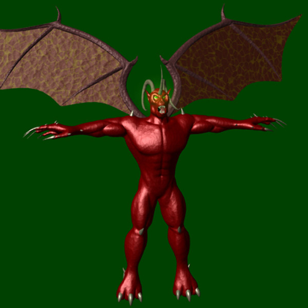 lightwave demon character
