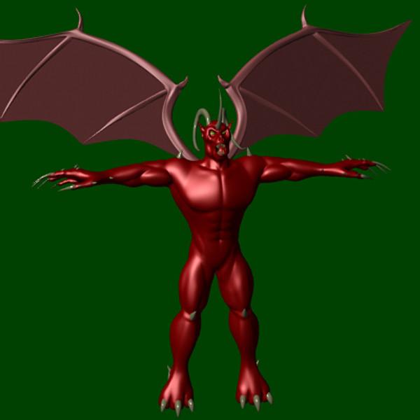 3dsmax demon creature character