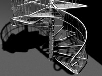 3d model of metal stairs