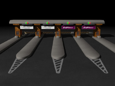 3d toll booth tollbooth model