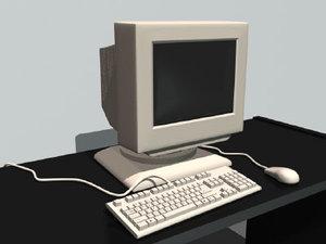 3d office computer desk