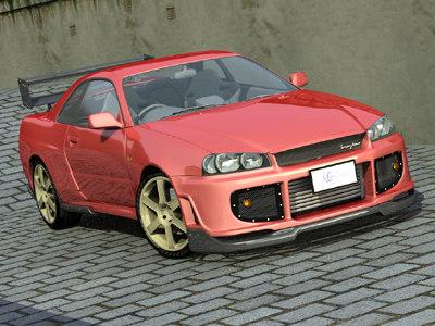 tommy kaira gt-r r34 3d model