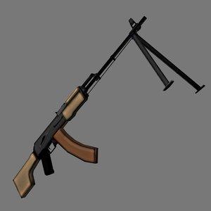 rpk-74 soviet ak74 3d model