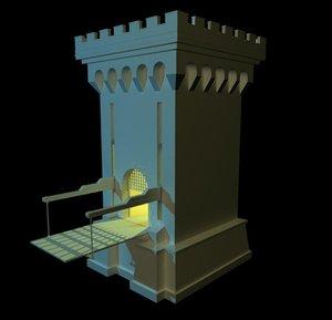 3d model castle gatehouse