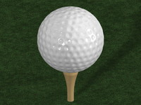 free golf ball 3d model
