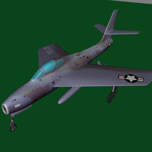 3d f84f jet plane f84