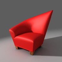 3d c4d chair house
