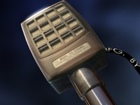 3d model of microphone 1950 s