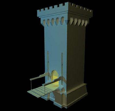castle gatehouse 3d model
