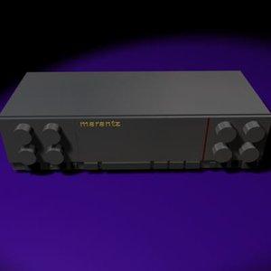 free marantz amplifier 3d model