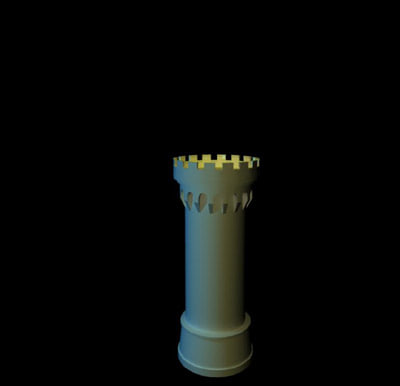 3d model castle tower