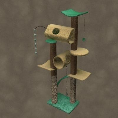 cat tree zipped 3d model