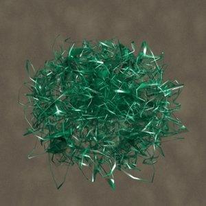 cellophane grass zipped 3d model