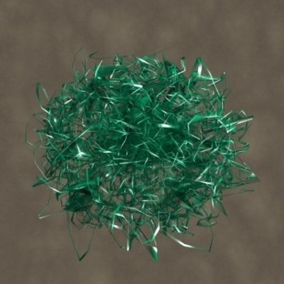 cellophane grass zipped 3d model