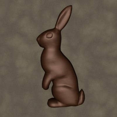 3d chocolate bunny zipped model