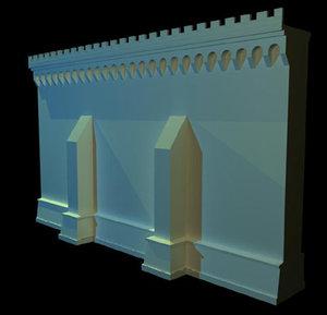 castle wall obj