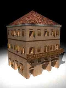 roman building 3d model