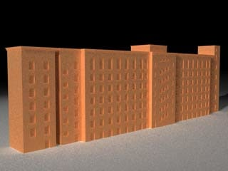 building condominium 3d model