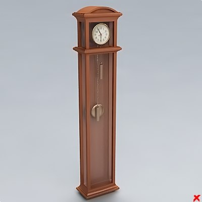 clock hall 3d model